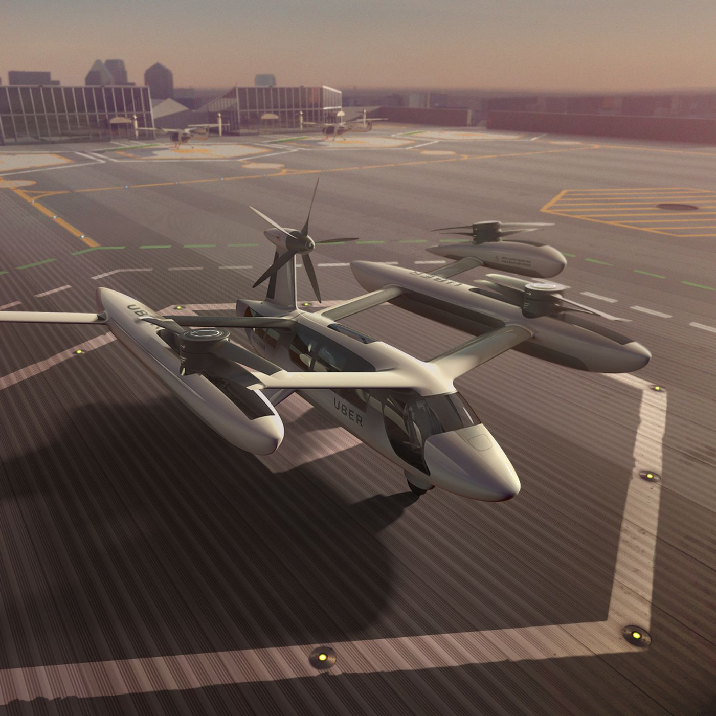 """Uber reveals its latest """"flying car"""" prototype for aerial taxi"""