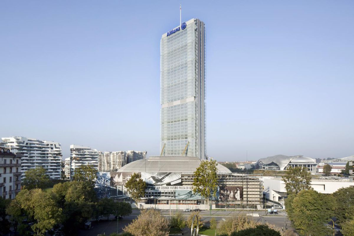 Allianz Tower is one of the tallest skyscrapers in Italy and serves as a new landmark for the city of Milan.