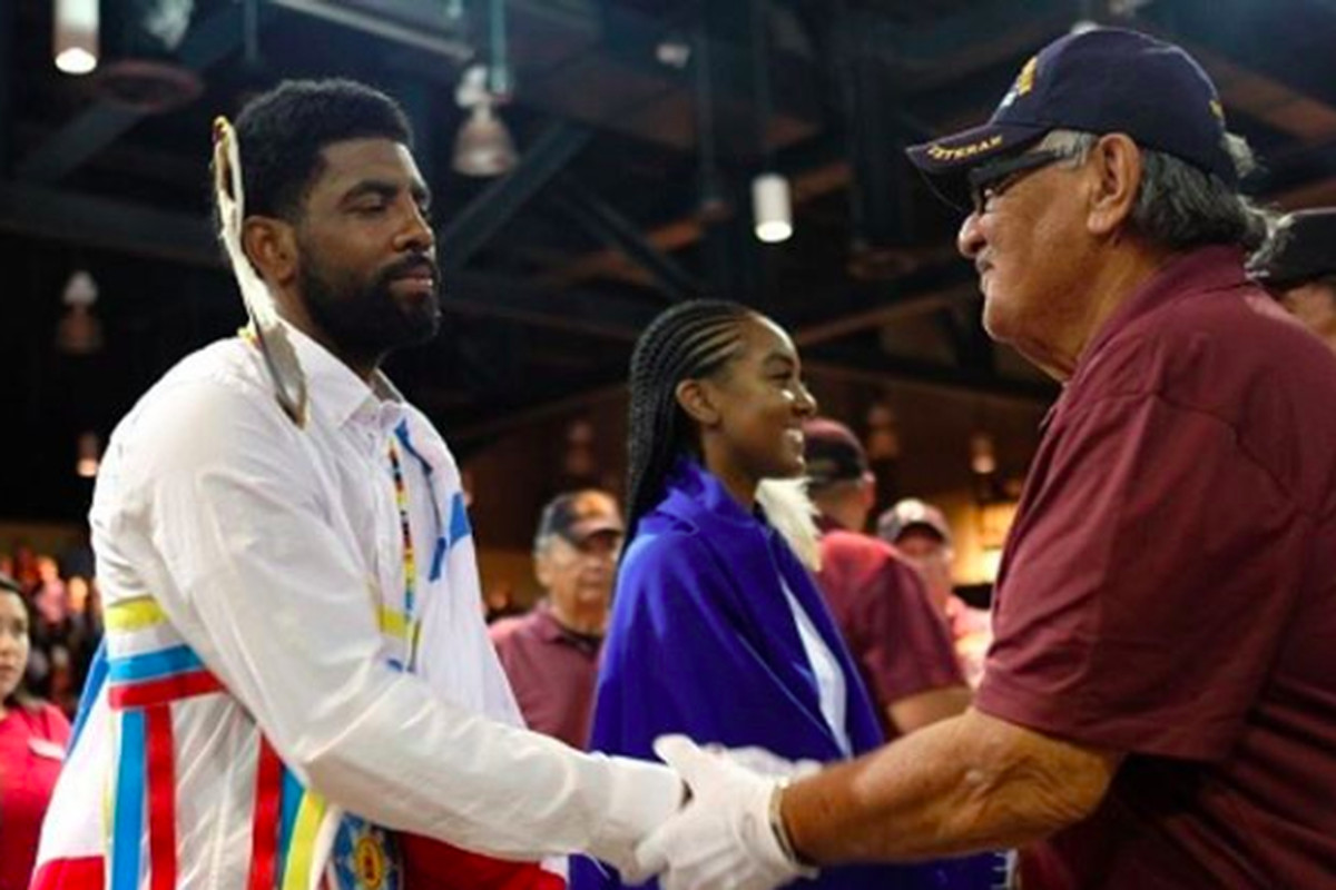 cb95457defdf Kyrie Irving spent a day with his mother s Standing Rock Sioux tribe. Now