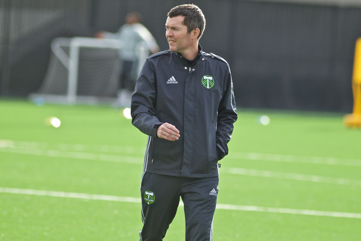 Timbers 2 manager Andrew Gregor oversees training