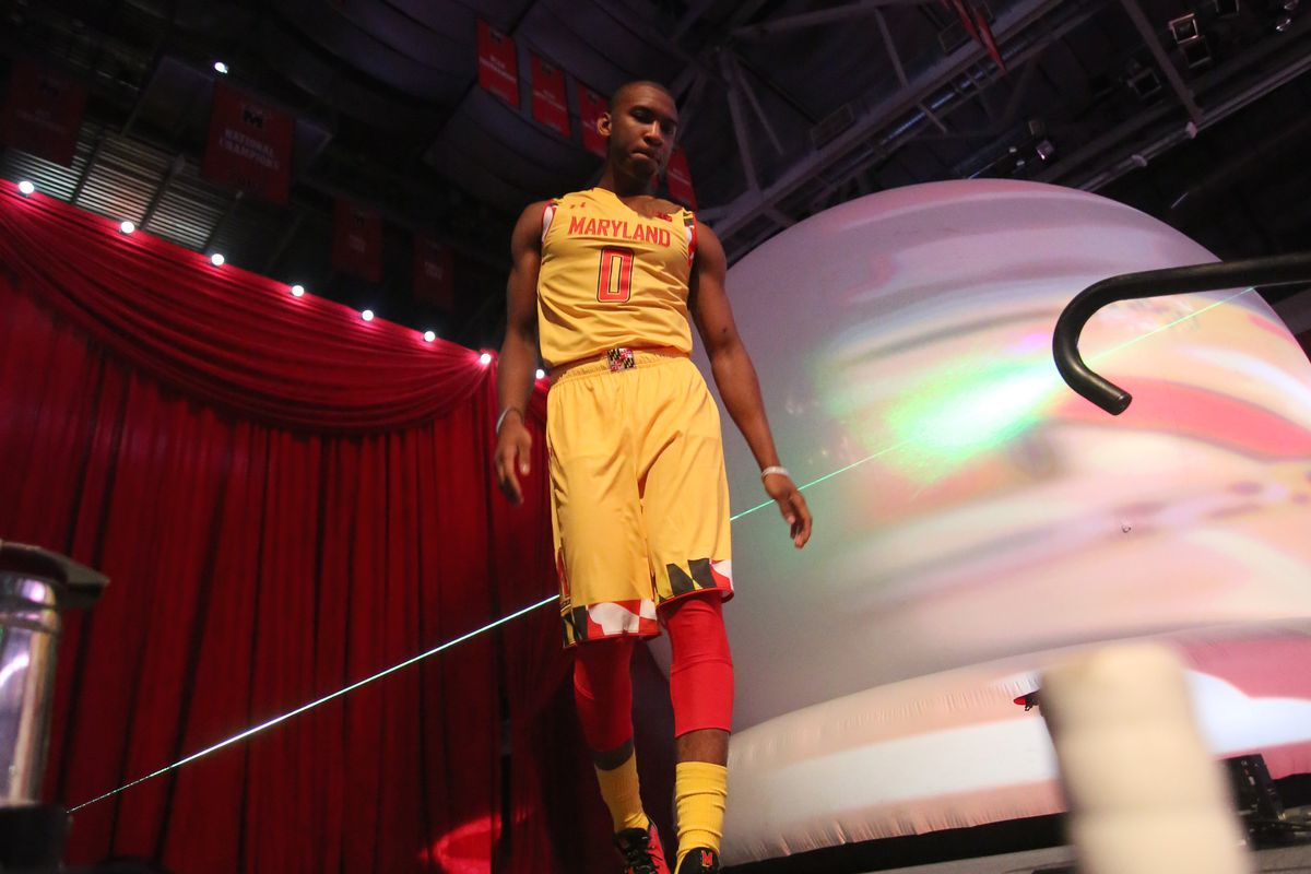 Maryland guard Rasheed Sulaimon is introduced at Maryland Madness on Oct. 17.