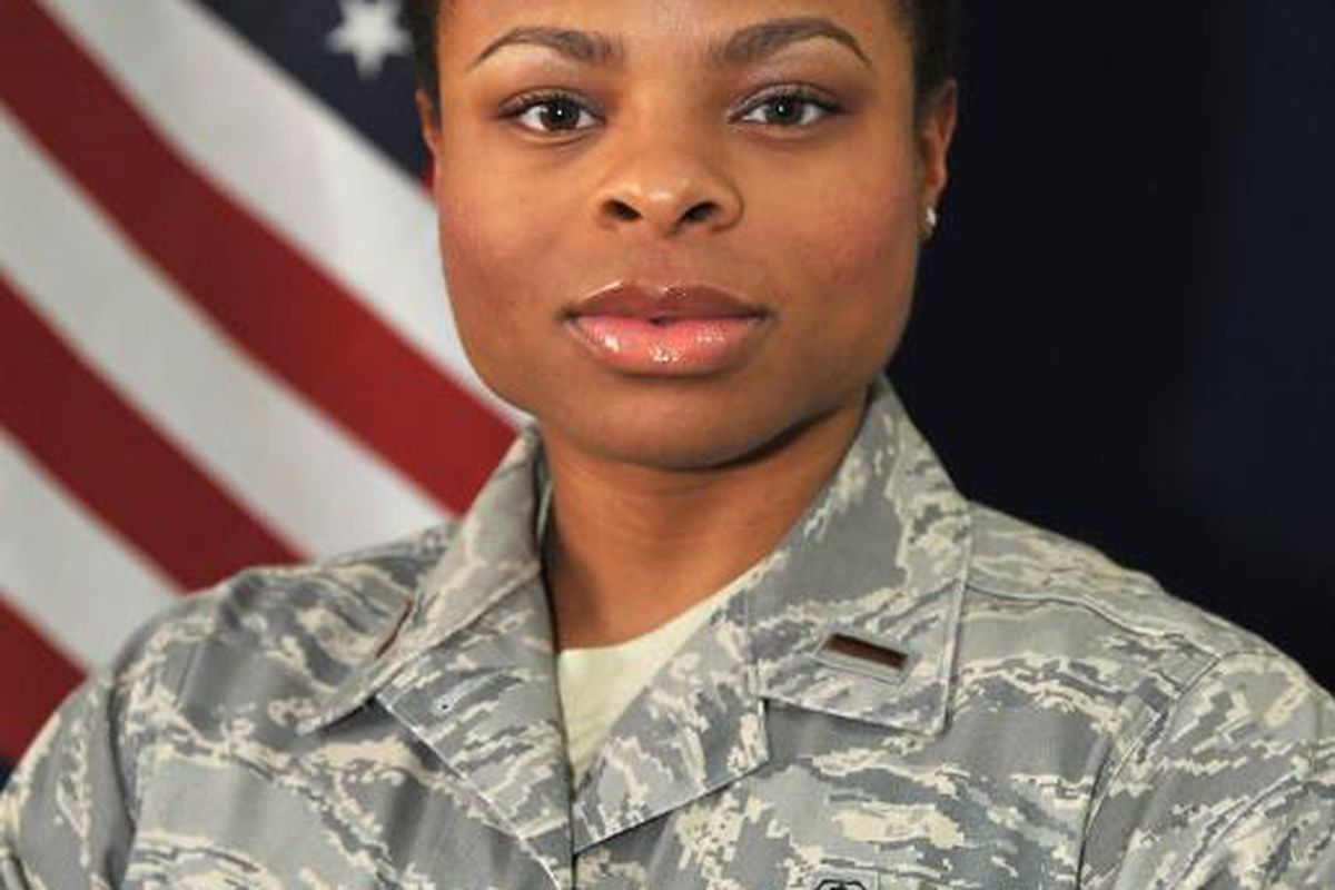 Former WNBA player Madinah Slaise is currently deployed as part of Operation Enduring Freedom as a member of the U.S. Air Force. <em>Photo courtesy of Slaise.</em>