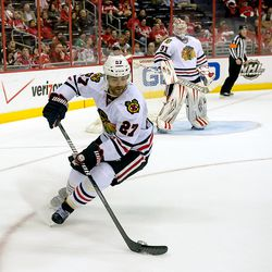Oduya With Puck
