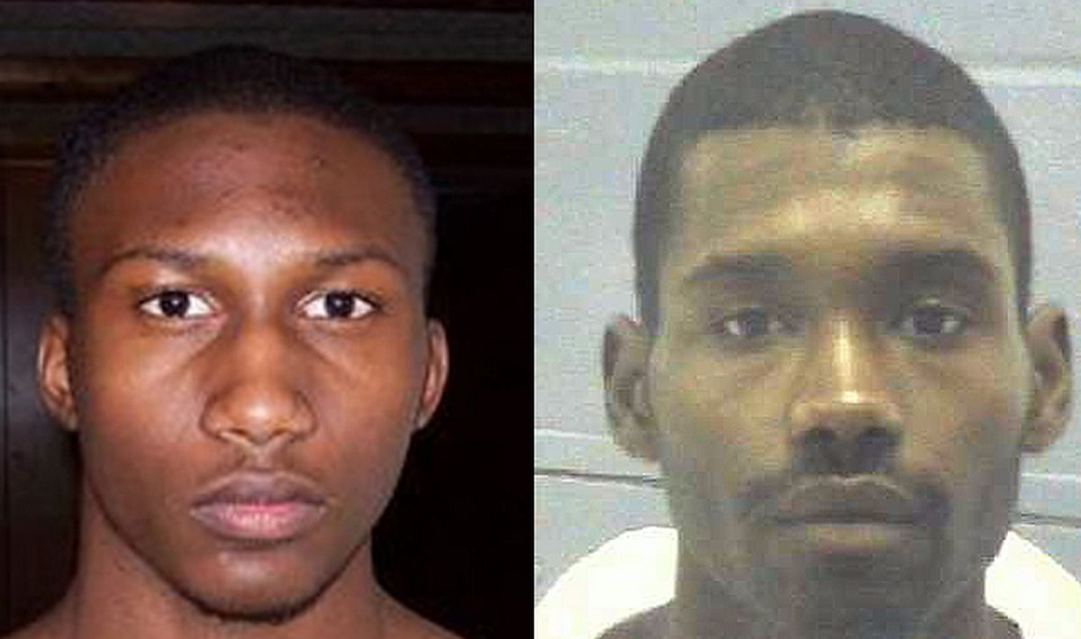 Hasan Edmonds (left) and Jonas Edmonds are accused of attempting to join ISIL and of plotting to kill 120 U.S. soldiers in Illinois   (myspace and Georgia Department of Corrections