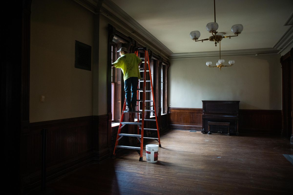 Renovation work continues on the Hotel Florence, part of the Pullman National Monument.