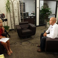 Former LDS missionary Travis Tuttle is interviewed in Salt Lake City August 16, 2012 about a film portraying his kidnapping in 1998 while he was a missionary in Russia.