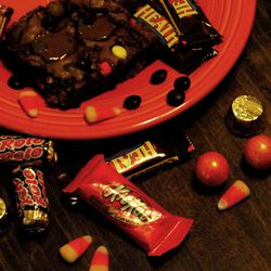 Use leftover Halloween candy to craft delicious desserts.