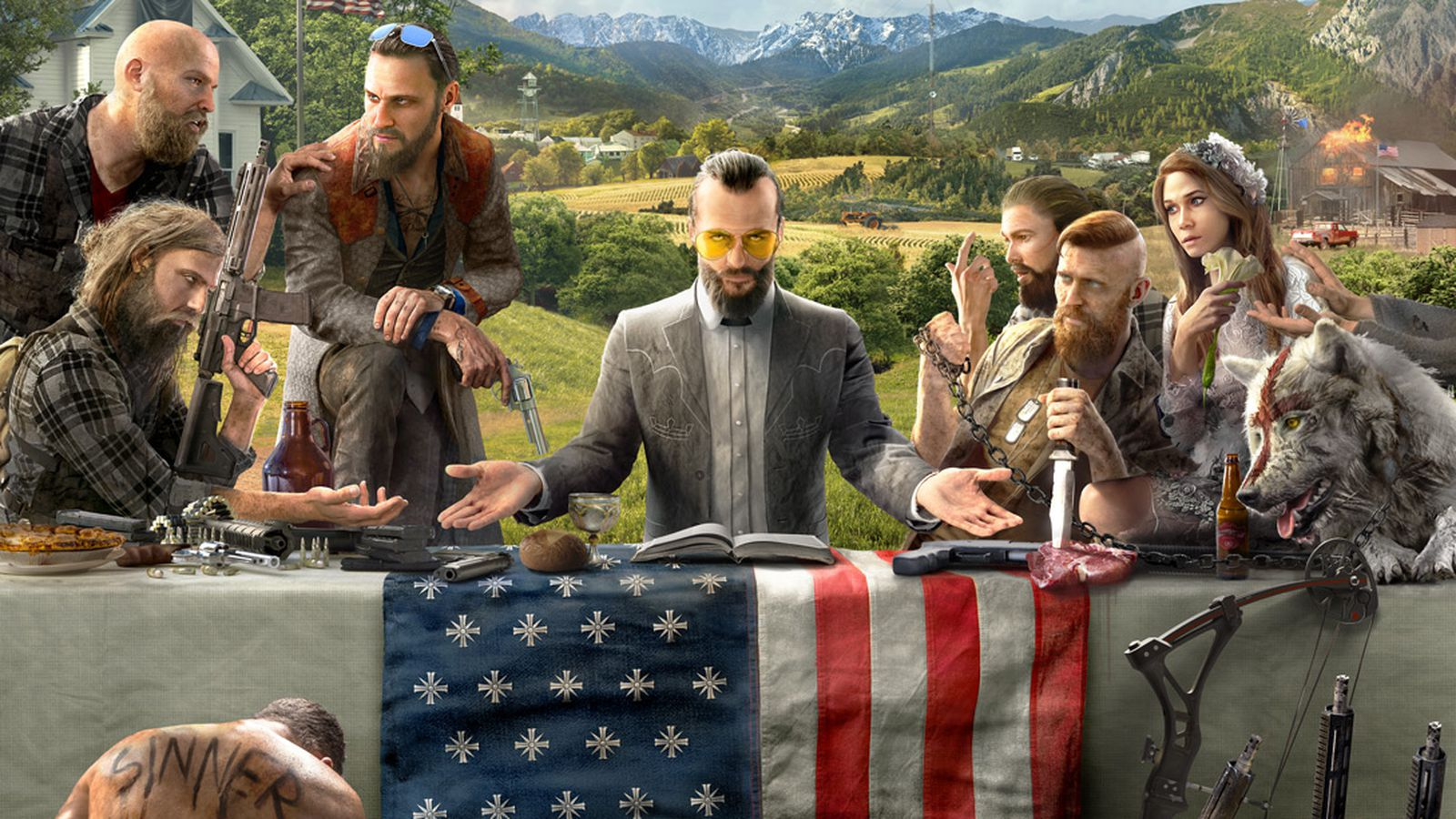 Far Cry 5 artwork introduces us to a religious cult
