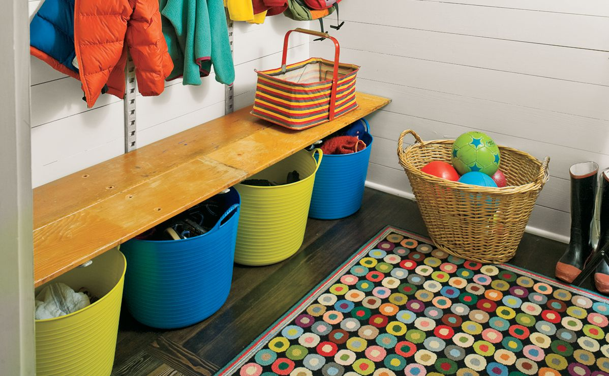 Shoe-Changing Bench For Mudroom