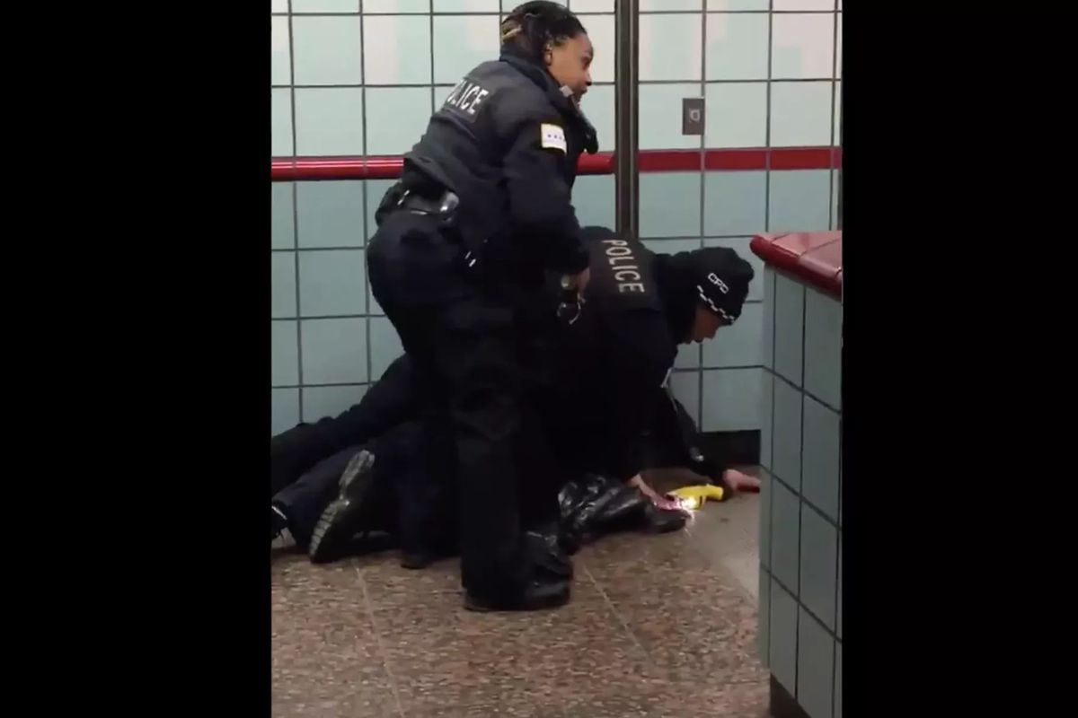 CPD officers Melvina Bogard and Bernard Butler could be seen struggling to arrest Ariel Roman while the three were on the Grand Red Line station platform in February 2020. After Roman wrestled free from Butler, Bogard shot him twice.