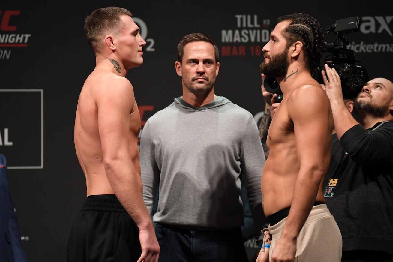 Darren Till and Jorge Masvidal will clash in the UFC London main event.