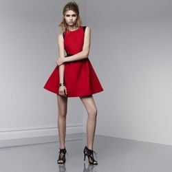 Dress in Apple Red/black, $49.99