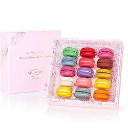 """For the sweet-toothed mom: 15-piece box of macarons, <a href=""""http://www.bottegalouie.com/15-piece-macaron-box"""">$37.50</a> at Bottega Louie"""