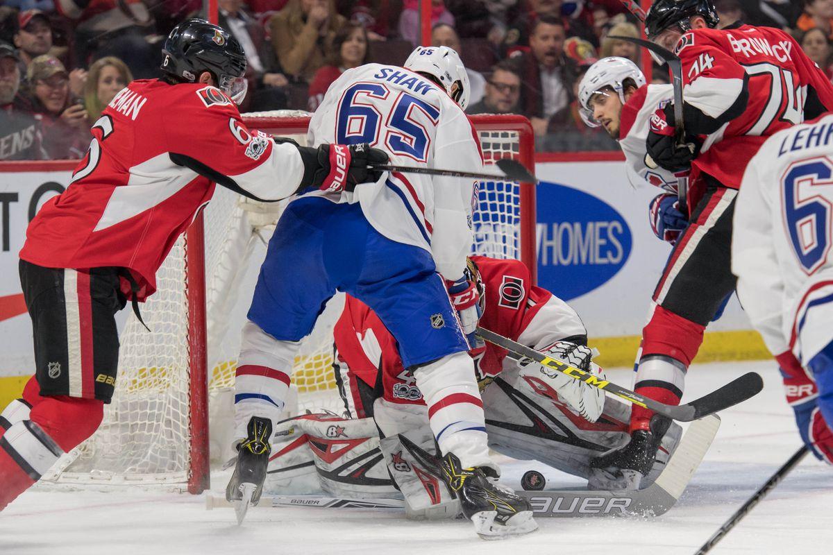 NHL: Montreal Canadiens at Ottawa Senators