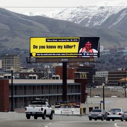Electronic Billboard near the 600 South off ramp from I-15 Monday, March 21, 2011.