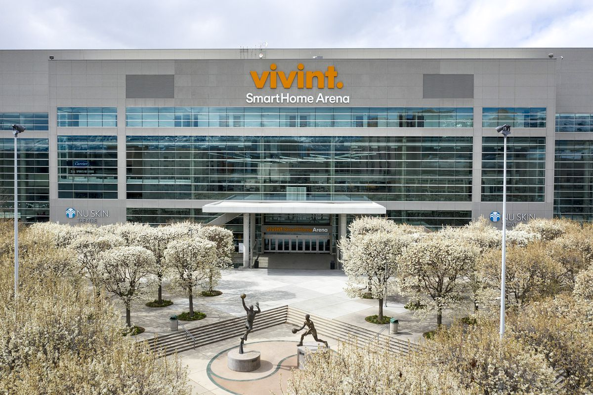 Vivint Smart Home Arena in Salt Lake City is pictured on Tuesday, March 31, 2020.