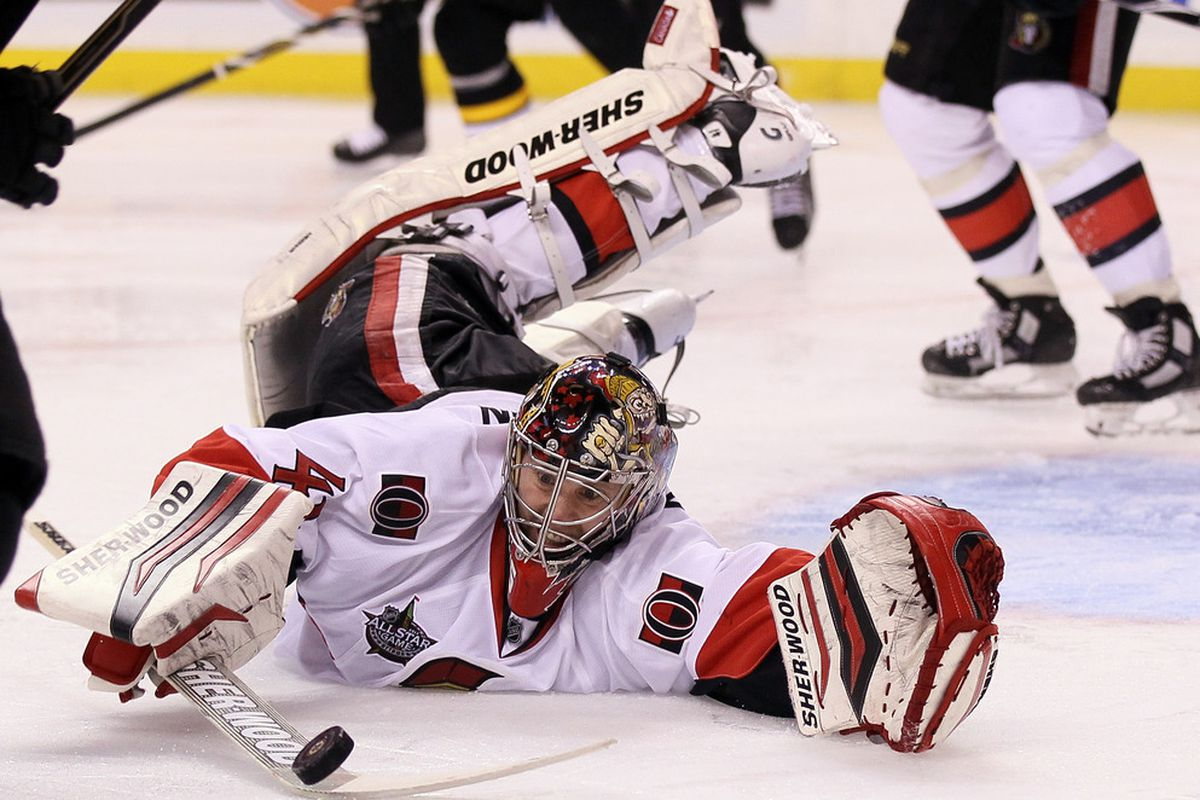 Even though Craig Anderson leads the league in saves, his team can't regularly beat opponents even when they outshoot them.