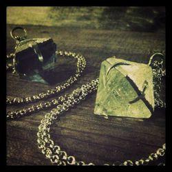 Cosmia Quartz Pyramid Necklace, $116 for bronze, $196 for sterling.