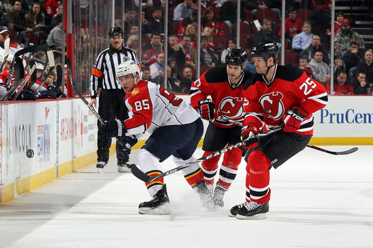 Rostislav Olesz (L) is now a Devil and could be on the New Jersey Roster.  Rod Pelley (M) will be fighting for a spot on the depth chart. Jason Arnott (R) is not on the team.