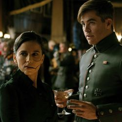 """This image released by Warner Bros. Entertainment shows Elena Anrya, left, and Chris Pine in a scene from """"Wonder Woman,"""" in theaters on June 2. (Clay Enos/Warner Bros. Entertainment via AP)"""