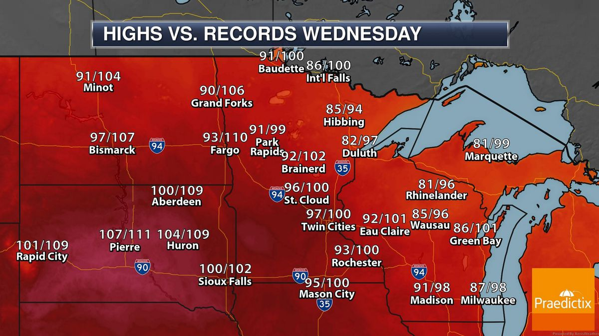 Dangerous Heat Spike Today With Severe Storm Risk – Relief Arrives Thursday