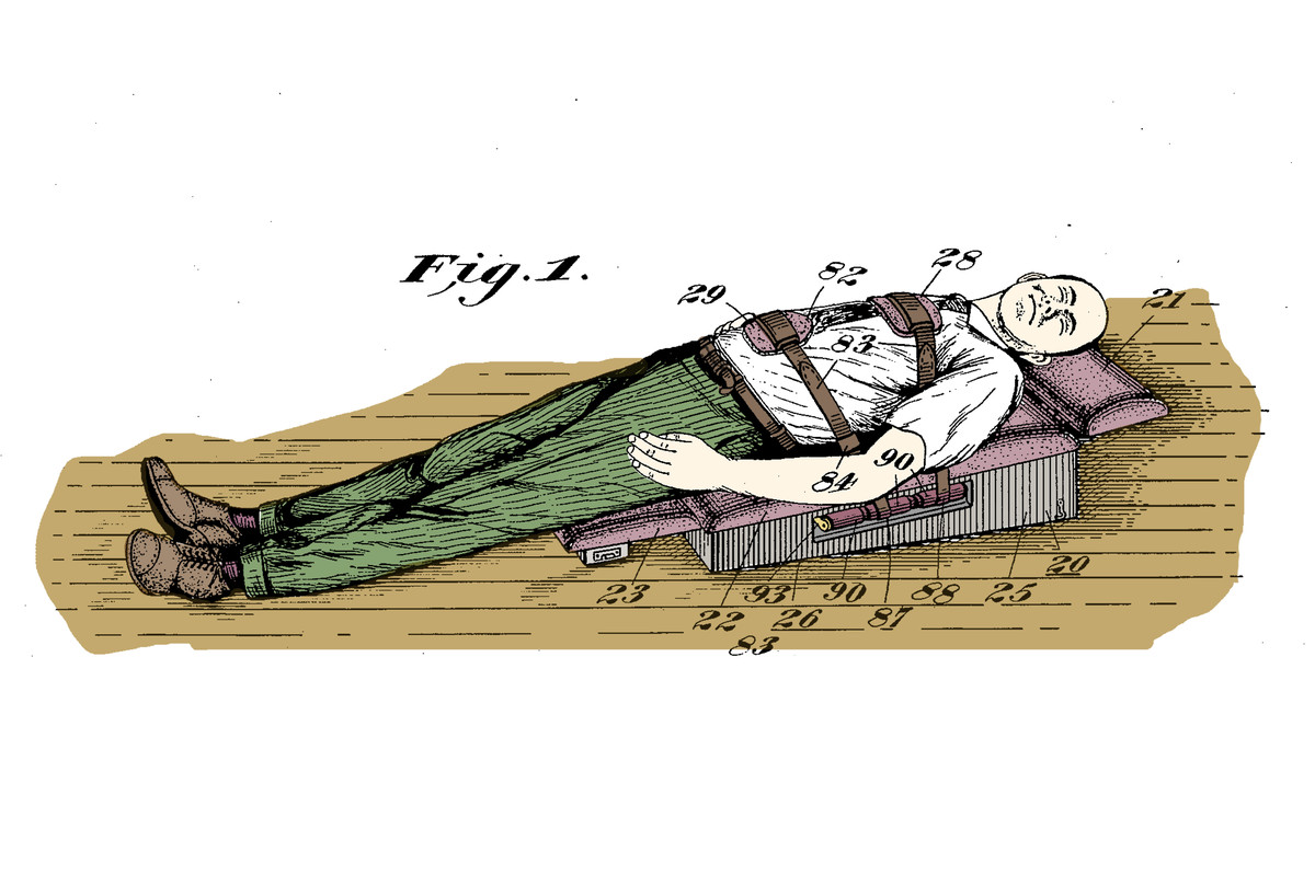 """Lying flat, waiting for your """"treatment"""""""