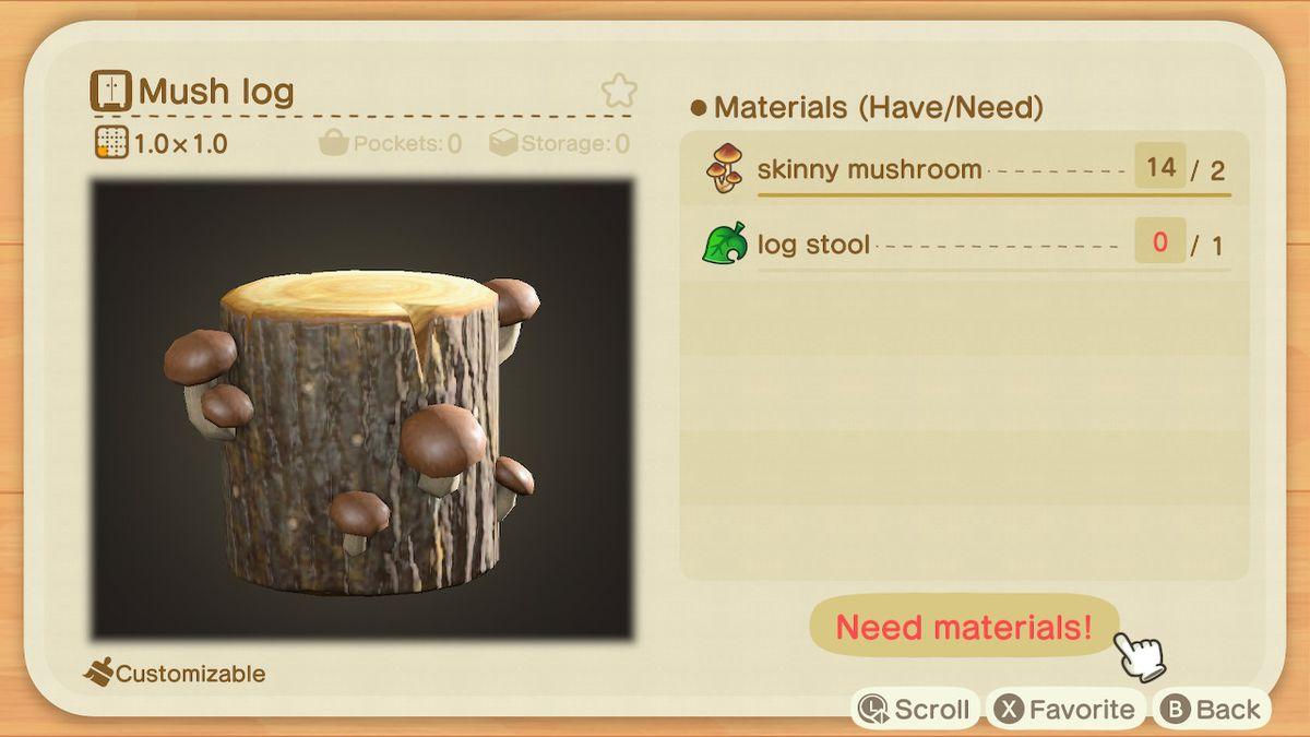 The recipe for a Mush Log