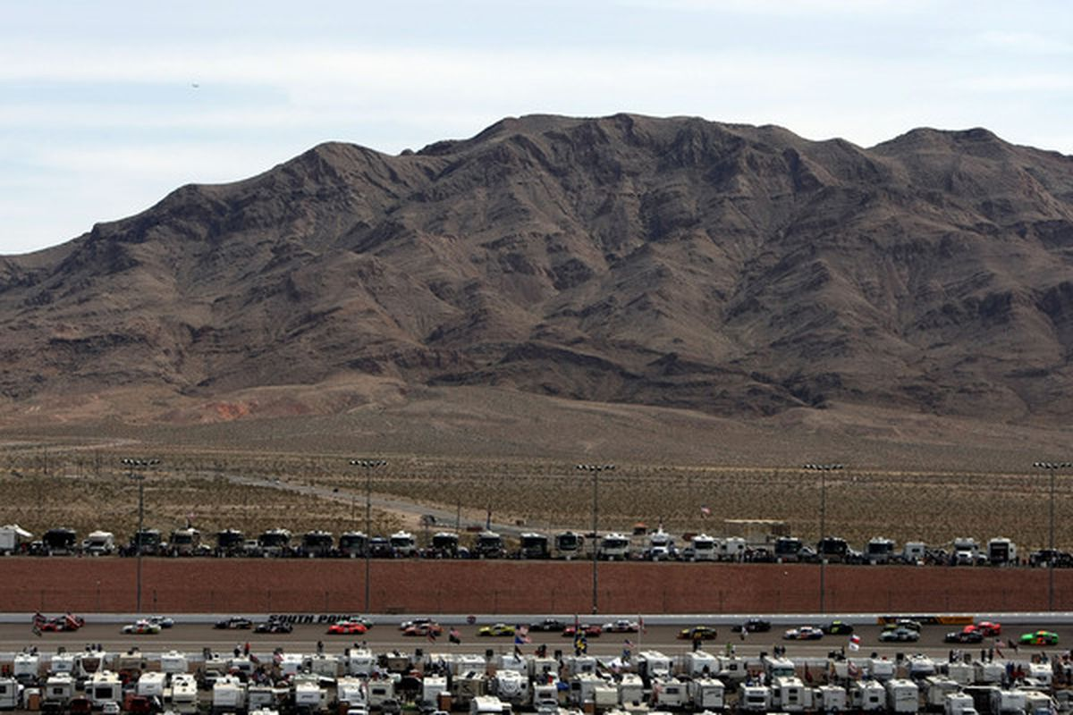The NASCAR Nationwide Series Sam's Town 300 at Las Vegas Motor Speedway produced a 2.2 TV rating.