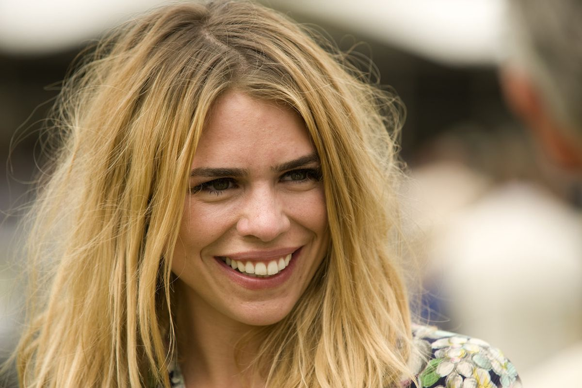 """CHICHESTER, ENGLAND - JULY 29:  Actress Billie Piper at Goodwood racecourse on July 29, 2011 in Chichester, England.  Doctor Who says, """"What?"""" (Photo by Alan Crowhurst/Getty Images)"""