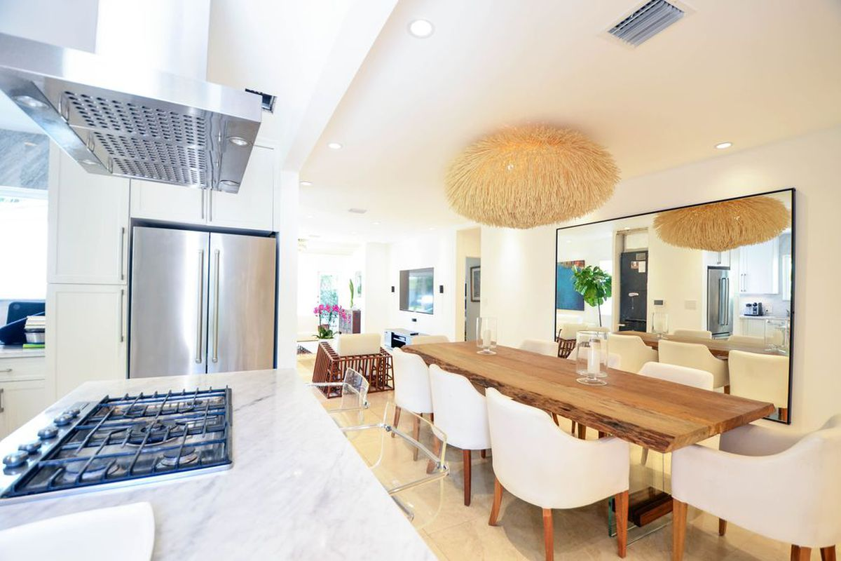 Inside a contemporary home in Coral Gables