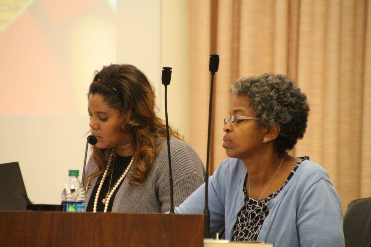 Shelby County Schools board members Miska Clay Bibbs, left, and Joyce Dorse-Coleman.