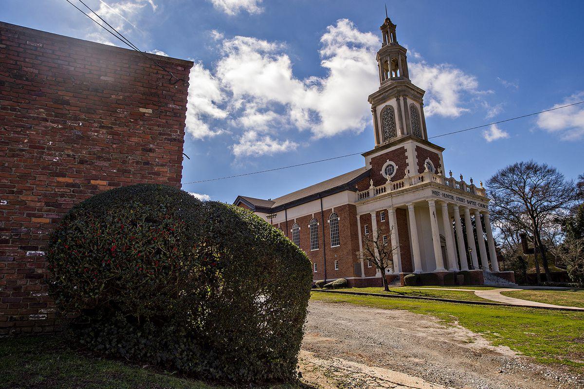 West Hunter Street Baptist Church is poised off Ralph David Abernathy Boulevard.