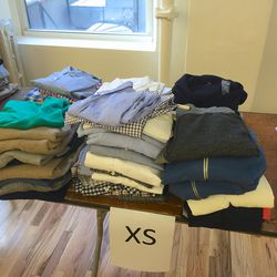 Shirts and sweaters ($29), knits ($19)