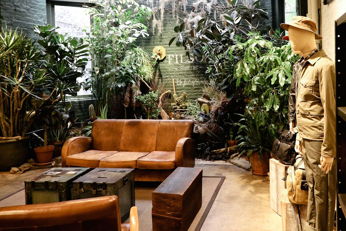 Green Finger's installation at Filson's Great Jones Street store. Photo: Driely S.