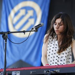 Julia Holter in simple polka dots. Photo by Ellie Pritts.