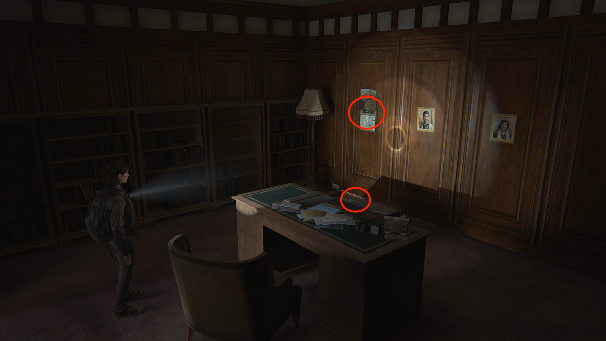 Rabbi Saunders' Letter Artifact collectible and Jewish Calendar Journal Entry collectible The Last of Us Part 2 Seattle Day 1 (Ellie)