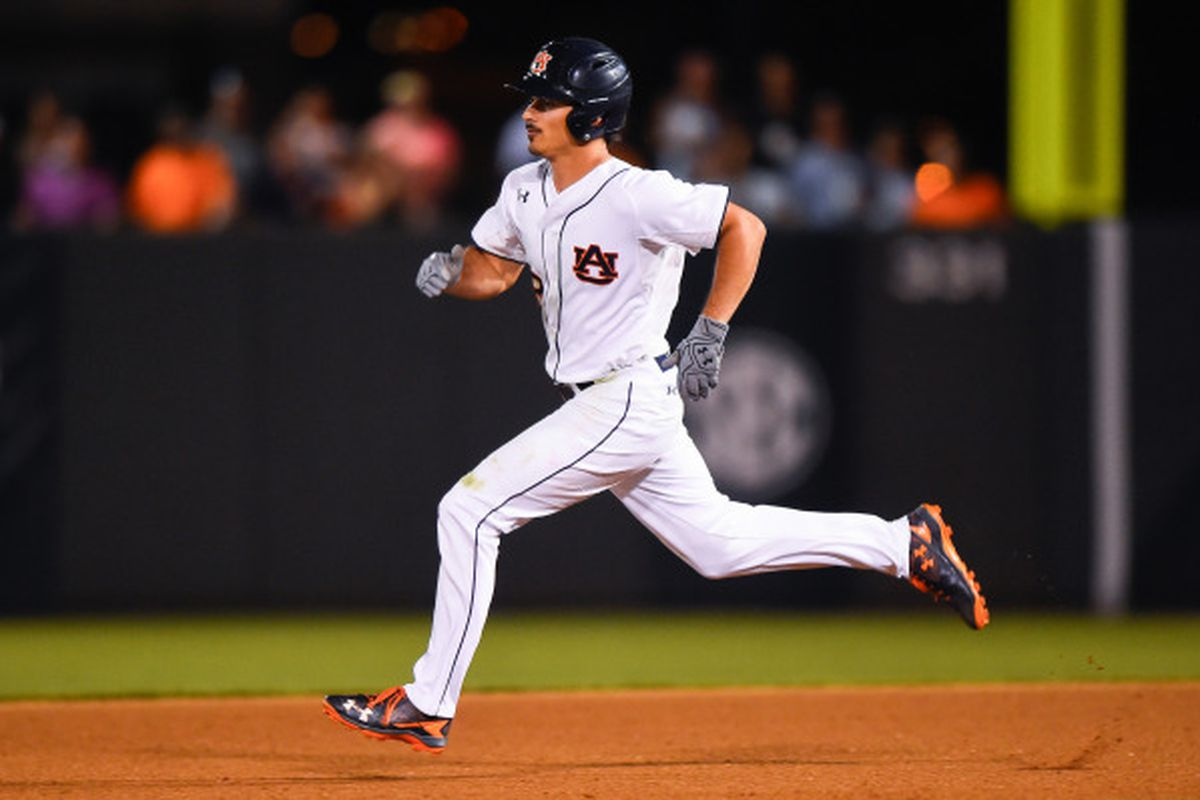 Jackson Burgreen rounds the bases