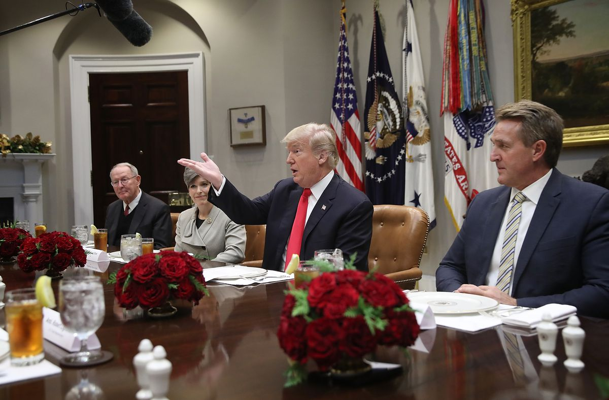 President Trump Meets With GOP Senators At The White House