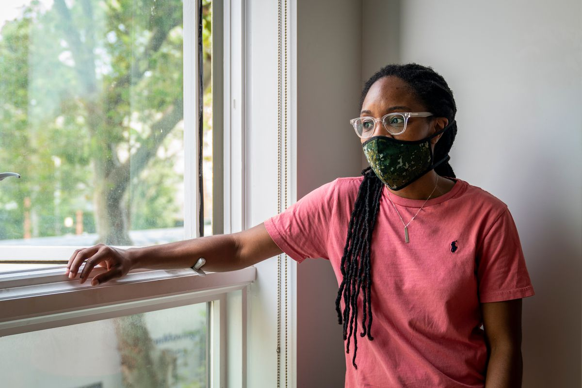 Nicole Patton decided it was time to leave the Bed-Stuy apartment she shared with her wife, Jenny Coerbell, after the couple had a baby, Aug. 14, 2020