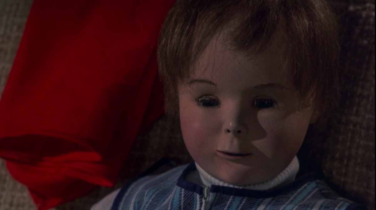 A creepy plastic artificial baby in ZPG
