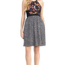 """<a href=""""http://www.rachelroy.com/Halter-Dress/110335454,default,pd.html?variantSizeClass=&variantColor=JJ9BOB1&cgid=110004705&prefn1=catalog-id&prefv1=rachelroy-catalog"""">Halter dress</a>, $49 (was $129)"""