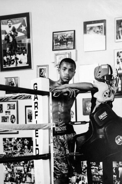 Ed Brown during his childhood at Garfield Park boxing gym.