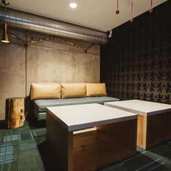 A private karaoke room.