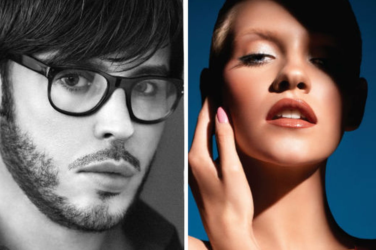 François Nars, left, and an image from Makeup Your Mind: Express Yourself, via Nars