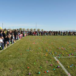 West Jordan Easter Egg Hunt, March 31, 9 a.m., Utah Youth Soccer Complex, 7965 S. 4000 West, West Jordan, free, for children ages 2-15, arrive early to check in and find correct field, includes special needs area