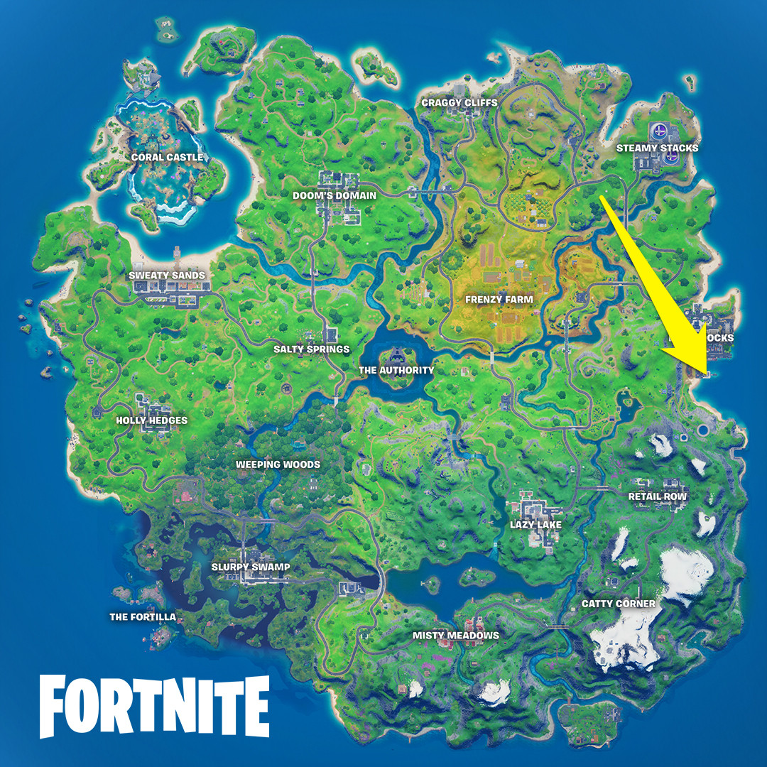 The location of Fortnite's chapter 2 season 4's week 3 Wolverine challenge