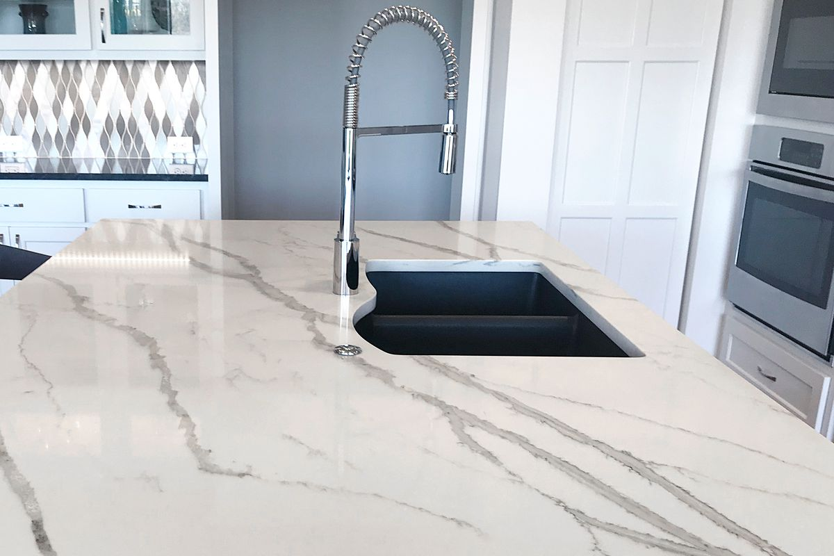 Faux-Marble Countertop with sink