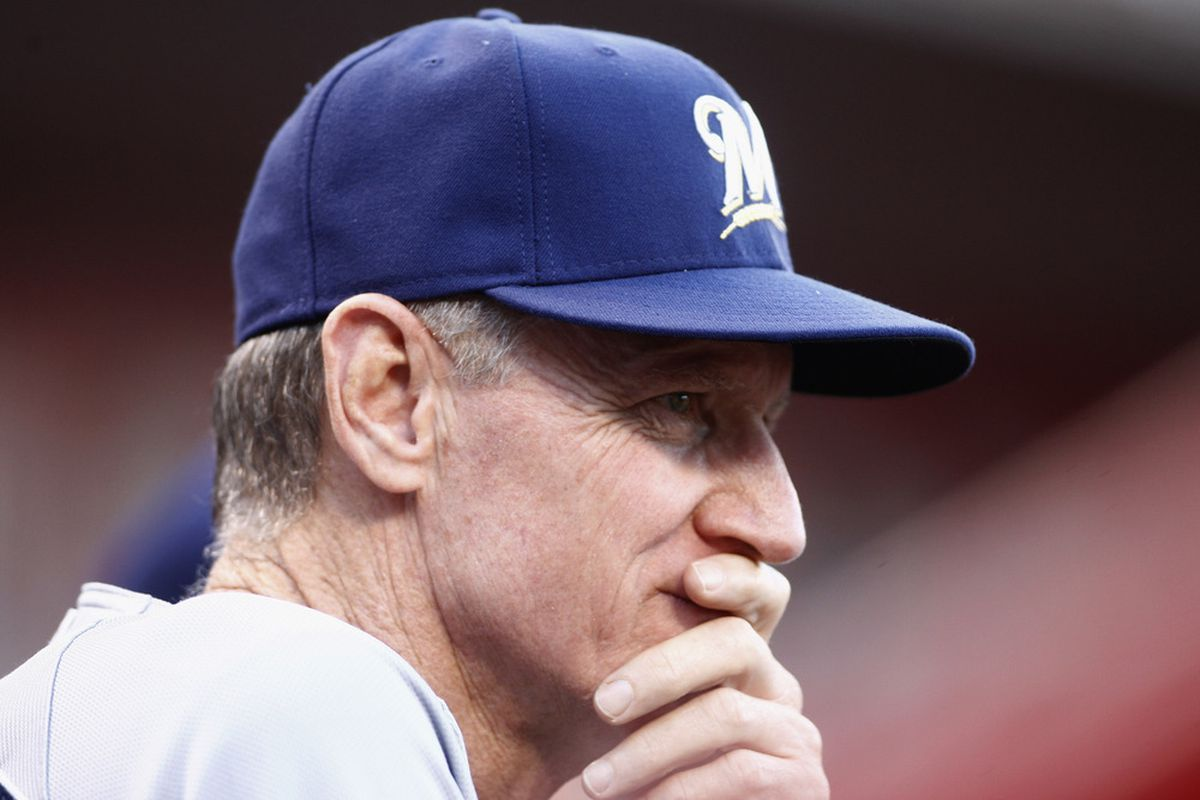 CINCINNATI, OH - JUNE 25:  Your 2012 Brewers: Things that make you go hmmmm  (Photo by John Grieshop/Getty Images)