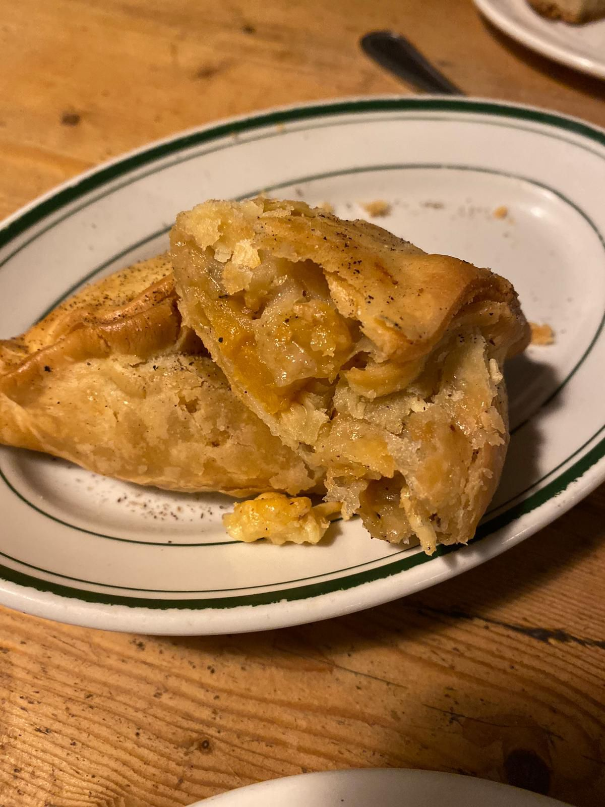Swede and cheddar pasty at 40 Maltby Street in Bermondsey