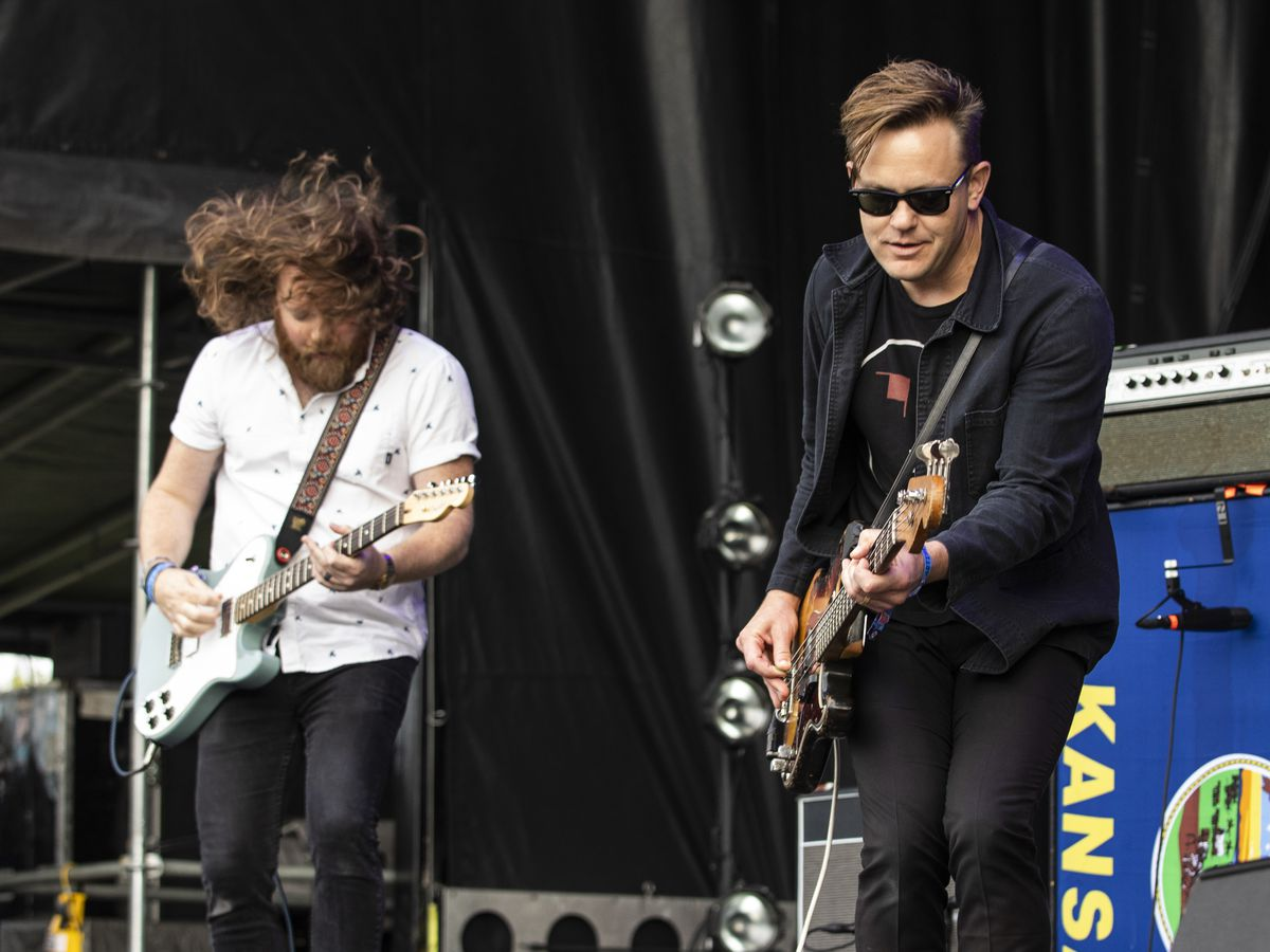 The Get Up Kids perform on day one of Riot Fest, Friday afternoon, Sept. 13, 2019.